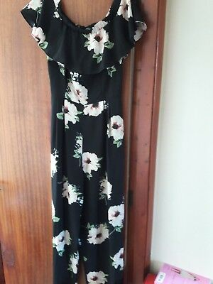 jumpsuit floral new look cameo rose size 14 bnwot
