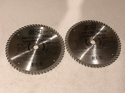 "2 Pack Ivy Classic 7-1/4"" x 60 Tooth Finishing Carbide Circular Saw Blades"