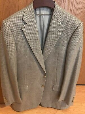 White and Grey Hickey Freeman 38R Sportcoat, PURE CASHMERE, Great condition!!