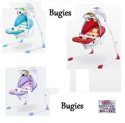 Caretero BUGIES Bouncer rocker swing melodies sounds lights Next Day Delivery