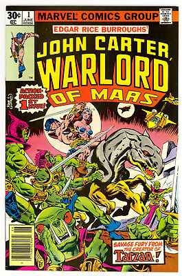 NM+ John Carter Warlord of Mars #1 (Jun 1977, Marvel)