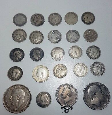 Lot 24 Silver English coins