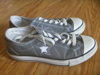 Converse One Star Women's Low Top Gray Canvas Sneaker Shoes Size US 6 UK 4