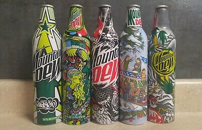 Mountain Dew Green Label Art Collection of 5