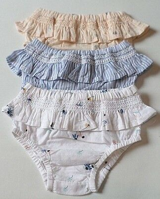 Ex Marks & Spencer 3 Pack 100% Cotton Frilly Knickers pants Pick your size NEW