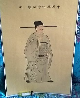 antique large18 century chinese silk painting