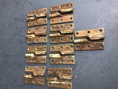 Victorian Solid Heavy Brass Spiral Hinges - Reclaim