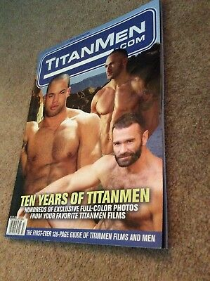 GAY HAIRY LEATHER DADDY —-TITAN MEN —vintage Magazine. 10 Years Of Titan ADULT.