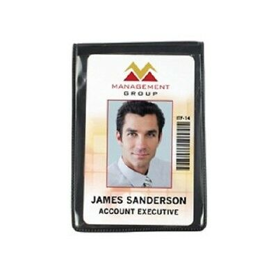 """Magnetic Vertical 1-Card ID Badge Holder - 2 3/8"""" W x 3 5/8"""" H - Heavy Duty"""