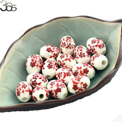 10pcs More 2015 New Styles!  Porcelain Rice Barrel Shaped Spacer Beads 10x15mm