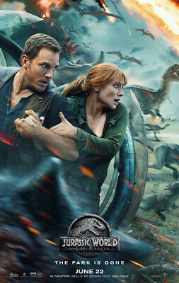 JURASSIC WORLD FALLEN KINGDOM MOVIE POSTER 2 Sided ORIGINAL June 22 Ver B 27x40