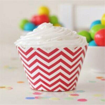 * Illume Design Red Chevron Cupcake Wrappers - pack of 12
