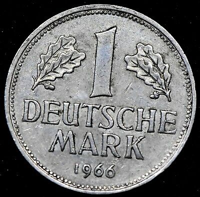 GERMANY: 1966 J   UNC. 1 MARK  Coin.
