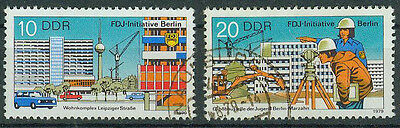 DDR Briefmarken 1979 FDJ Initiative Mi 2424 und 2425