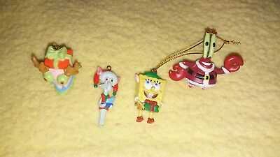 Lot of 4 SpongeBob SquarePants Characters Christmas Mini Ornaments 2006