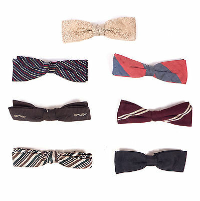 """Vintage Mixed Lot ot of 7 Clip Clip-On Bow Ties 4.75"""""""