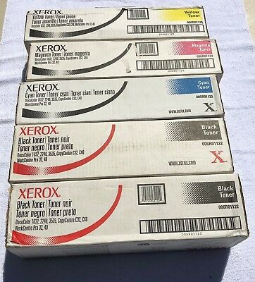 Lot Of 5! Genuine Xerox 006R01122/006R01123/006R01124/006R01125 Toner 1632/2240