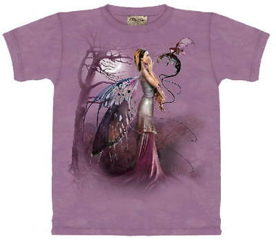 Dragon Whisper Fairy Fantasy Hand Dyed Adult T-Shirt, NEW UNWORN