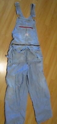 Vintage Pointer Engineer Hickory Striped Overalls Men's 40 X 32 USA