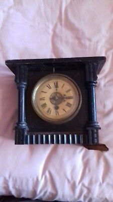 Antique German , Mantel clock  movement  & part case