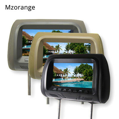 7 inch car monitor headrest display automobile head pillow styling video player