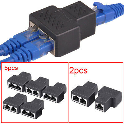 Ethernet Network Cable RJ45 Splitter Plug Adapter ConnectorLY 10PCS