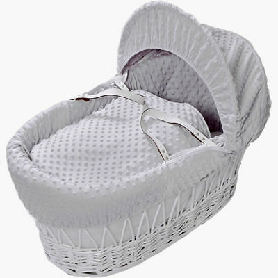 Grey Dimple Moses Basket 4 Piece Dressing Set No Basket Included