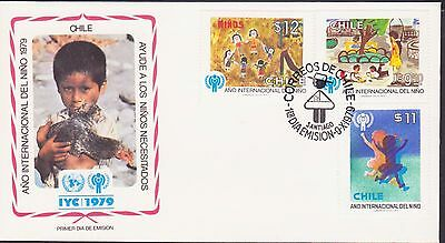 Chile America Year Of Child 1979 Fdc 17445