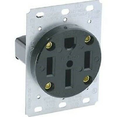 NEW Leviton 279 Flush Mounting Receptacle,50 Amp, 125/250 Volt, Straight Blade
