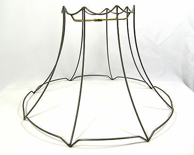 Lamp shade wire frame oval large for floor lamp 5995 picclick lamp shade wire frame large for table floor hanging custom hand made diy unused keyboard keysfo Image collections