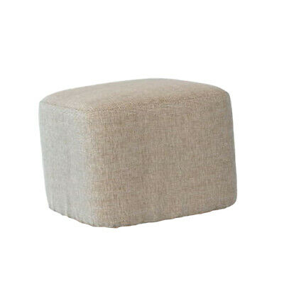 Footstool ottoman COVERS square furniture linen stool cushion Light Gray