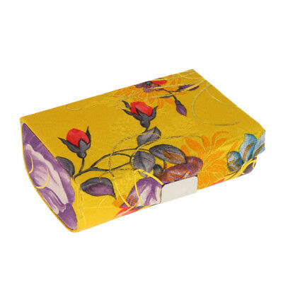Traditional Brocade Embroidered Makeup Lipstick Case Holder with Mirror Box