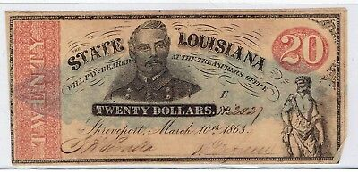 The State of Louisiana $20.00 Note