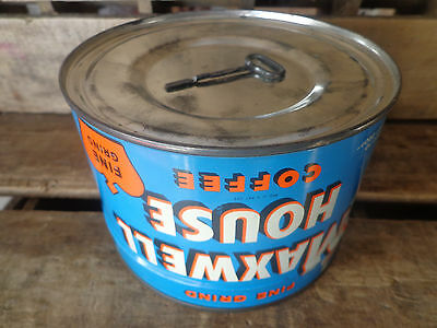 Vtg*MAXWELL HOUSE*Coffee*Tin*Can*FULL*UNOPENED*w/KEY*Factory Sealed*HOBOKEN, NJ