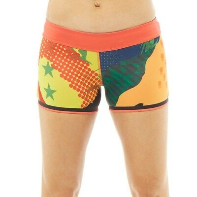 New REEBOK Women's CrossFit Chase Mix It Up Reversible Shorts GENUINE Size -M-L