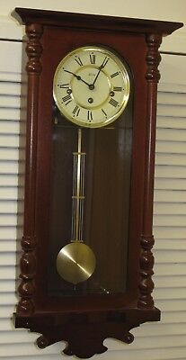 Hermle pendulum wall clock with Westminster chimes in good used working order