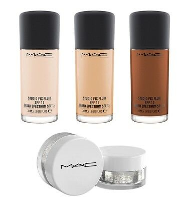 MAC Cosmetics Studio Fix Fluid Foundation Makeup SPF sample pot, Genuine, UK