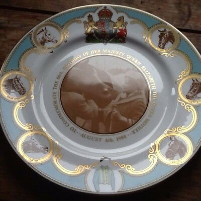 Caverswall, Queen Mother 80th Birthday Commemorative Plate