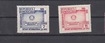 Dominican Republic 1955 Rotary International Complete Set Mint Never Hinged