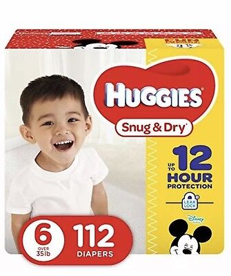 ***NEW*** Huggies Snug & Dry Diapers Size 6, 112 Count ***FREE SHIPPING***