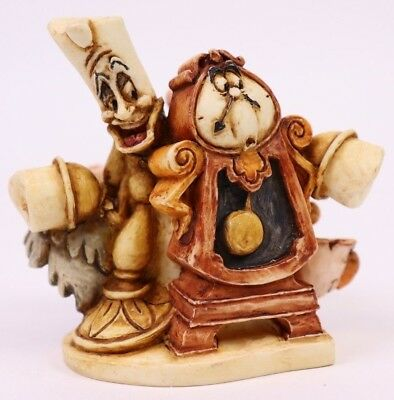 Disney Harmony Kingdom Beauty and the Beast Mrs.Potts Lumiere Cogsworth Figurine