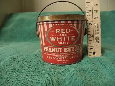 Red&white Peanut Butter Tin
