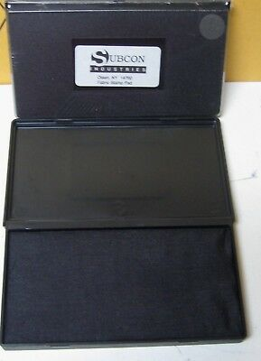 "Large 3.25"" X 6.25""  Dry Fabric Ink Stamp Pad Black New Sealed"