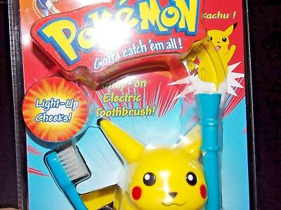 NEW Vintage 1998 1999 Pokemon pikachu electric toothbrush  Extremely rare !!!!!!