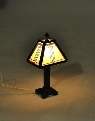 Light - Craftsman Tiffany Lamp - 1/12 scale dollhouse miniature MH1045 12 volt