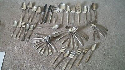 Mixed Lot of Rogers Silverplate-54 Pieces
