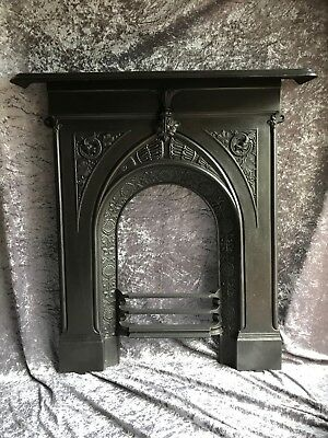 Victorian Rare Celtic Gothic Style Arts Crafts Dragon Fire Surround Wicca Altar