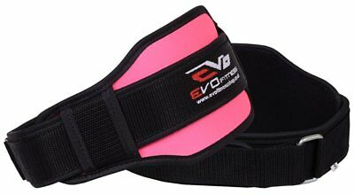 "EVO Fitness Ladies Pink 6"" Neoprene Weight Lifting Gym belts Back Support Wraps"