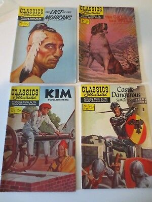 Lots of 4 Vintage Classics Illustrated Comic Books
