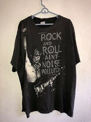 95f81ade83e 2003 AC DC Noise Pollution Liquid Blue t shirt double sided tour size XL